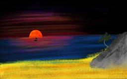 coucher du soleil de mon rêve Image libre de droits