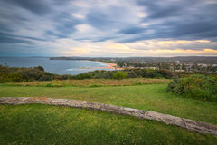 Coucher du soleil de Mona Vale Headland avec la longue exposition, Mona Vale, NSW, Au Photos libres de droits