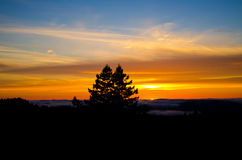 Coucher du soleil de montagne photo libre de droits
