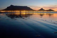 Coucher du soleil de montagne de Tableau Image libre de droits