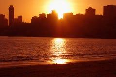 Coucher du soleil de Mumbai Image stock