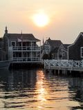 Coucher du soleil de Nantucket Images stock