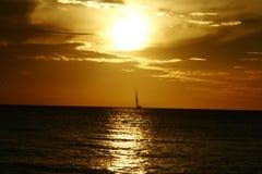 Coucher du soleil de navigation Images stock