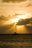 coucher du soleil de navigation Image libre de droits