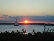 coucher du soleil de navigation Photos libres de droits