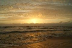 Coucher du soleil de Negombo Photos stock