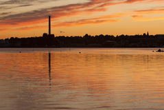 Coucher du soleil de New Bedford Photos stock