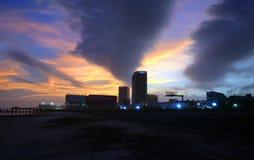 Coucher du soleil de New Jersey d'Atlantic City Photographie stock libre de droits