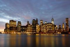 Coucher du soleil de New York Photo stock