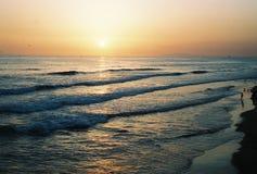 Coucher du soleil de Newport Image libre de droits