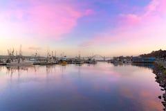 Coucher du soleil de Newport Orégon Images stock