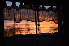 Coucher du soleil de Noël Photo libre de droits