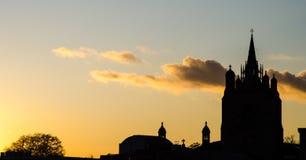 Coucher du soleil de Norwich Images stock