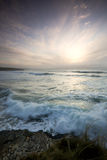 Coucher du soleil de novembre Photo libre de droits