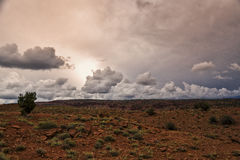 Coucher du soleil de nuage de 3 D photos libres de droits