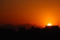 Coucher du soleil de Pékin Photo libre de droits