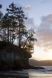coucher du soleil de Pacifique de côte Images libres de droits