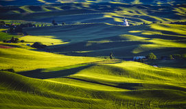 Coucher du soleil de Palouse, Washington images stock