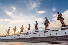 Coucher du soleil de parc de Rajabhakti Images libres de droits