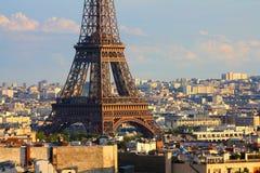 Coucher du soleil de Paris Photo stock