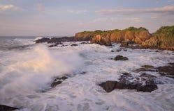 Coucher du soleil de pastel de Wavey Photographie stock libre de droits