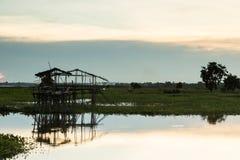 Coucher du soleil de paysage Photographie stock libre de droits