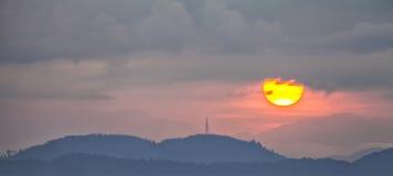 Coucher du soleil de Penang photos stock