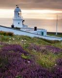 Coucher du soleil de phare Image stock