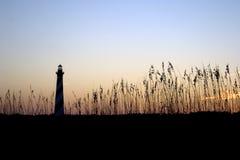 coucher du soleil de phare de hatteras de cap Photographie stock libre de droits