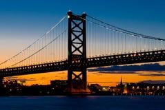 coucher du soleil de Philadelphie Photographie stock libre de droits