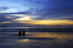 Coucher du soleil de Phuket photographie stock libre de droits