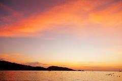 Coucher du soleil de Phuket Images stock
