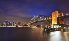Coucher du soleil de Pier Arch de point de Sydney CBD Milsons Images stock