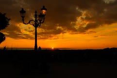 Coucher du soleil de Pincio Photographie stock