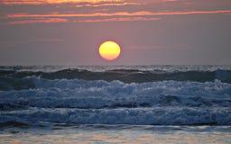 coucher du soleil de plage Image libre de droits