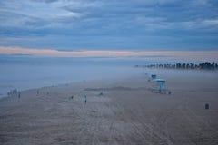 Coucher du soleil de plage Photo libre de droits