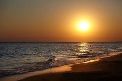 Coucher du soleil de plage Photos stock