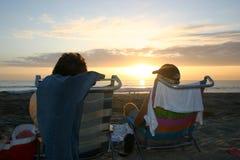 Coucher du soleil de plage photographie stock libre de droits