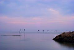 coucher du soleil de plage Photos libres de droits
