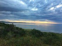 Coucher du soleil de plage d'Aldinga photo libre de droits