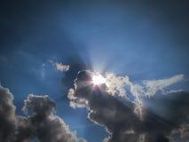 Coucher du soleil de plage d'Aruba avec le ciel magnifique Photos stock