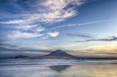 Coucher du soleil de plage d'EL Medano Image stock