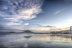 Coucher du soleil de plage d'EL Medano Photographie stock libre de droits