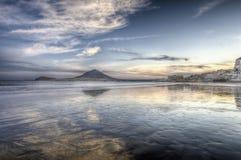 Coucher du soleil de plage d'EL Medano Photographie stock