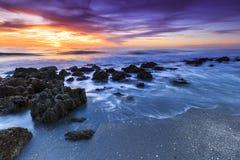 Coucher du soleil de plage de Casperson images libres de droits