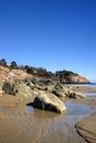 Coucher du soleil de plage de chant Photos libres de droits