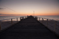 Coucher du soleil de plage de Henley Photo libre de droits