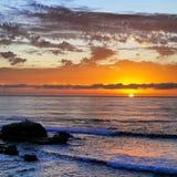 Coucher du soleil de plage de La Jolla Photos stock