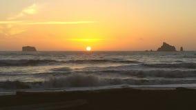 Coucher du soleil de plage de Rialto Images stock