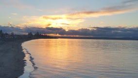 Coucher du soleil de plage de Seattle Photos stock
